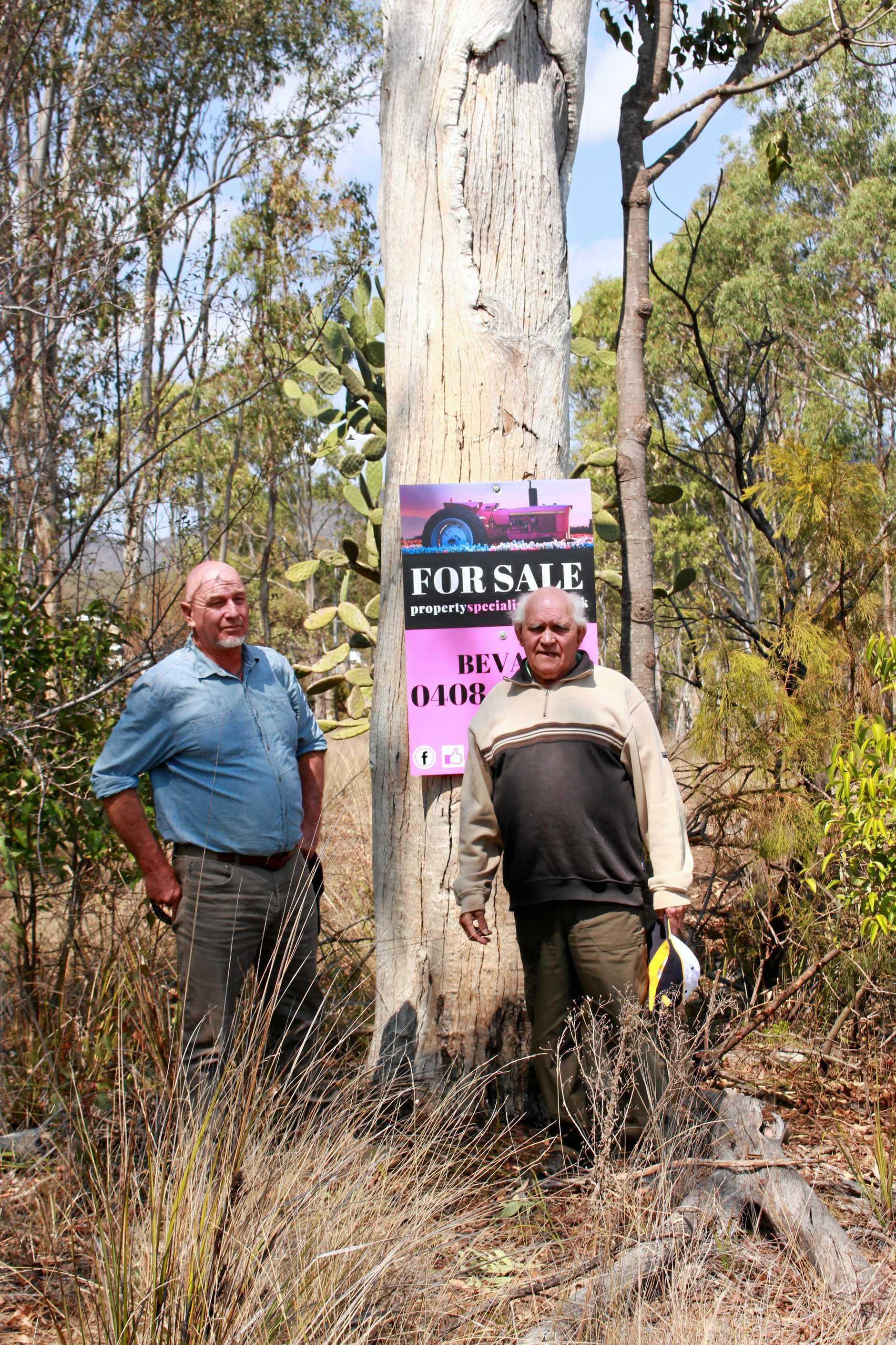 Githabul elder Sam Bonner and Maryvale man David Bate inspected the site last week.
