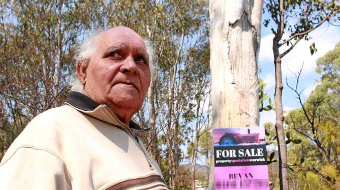Sacred site uncovered with 'for sale' sign nailed to surface