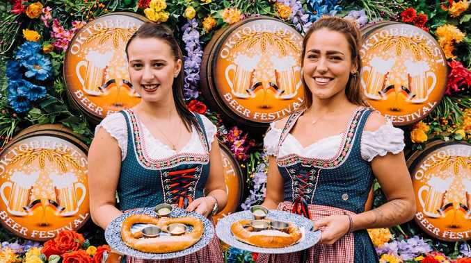 DRINK UP: The Oktoberfest Street Party will be held at Munich Brauhaus in South Brisbane today and tomorrow.