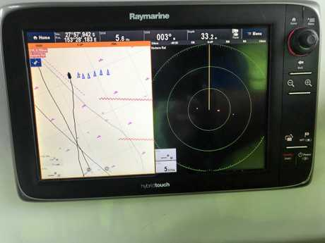 A search pattern image displayed on screen during recent training exercises.