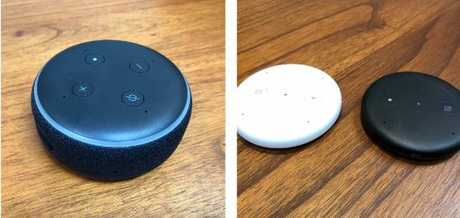 All new Echo Input (right) and Echo Dot.