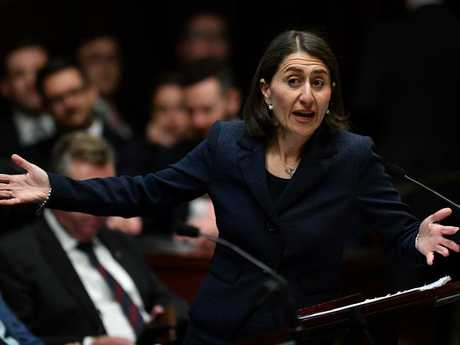 NSW Premier Gladys Berejiklian speaks during Question Time in NSW Parliament. Picture: AAP
