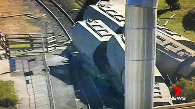 A train has derailed in northern Tasmania.