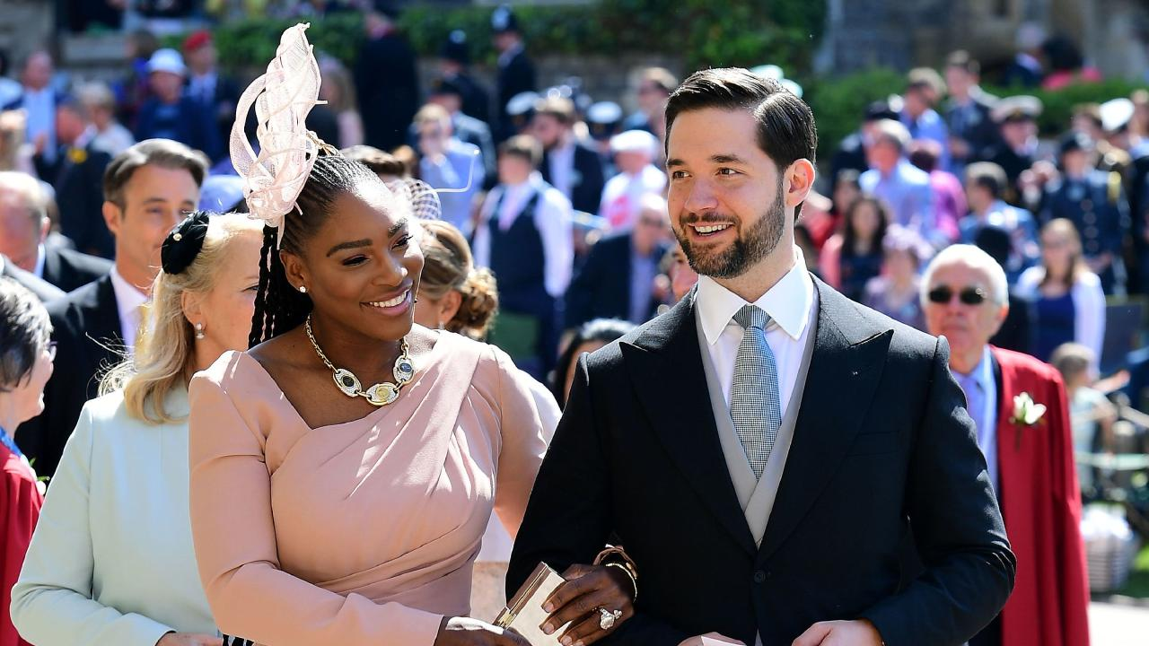 Serena Williams and Alexis Ohanian don't mind the spotlight. Picture: Ian West