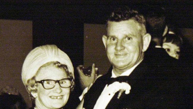 Clara and Dudley Sperry Downton dancing. Dudley, 59, a nightwatchman was killed during a robbery at Newtown PMG depot Minden on 8 July 1968. Ronald Henry Thomas was convicted for the murder also his mother Joy Ellen Thomas.