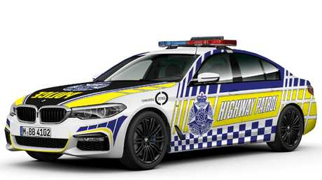 Victoria Police BMW 530d highway patrol sedan. Computer illustration courtesy of Victoria Police.