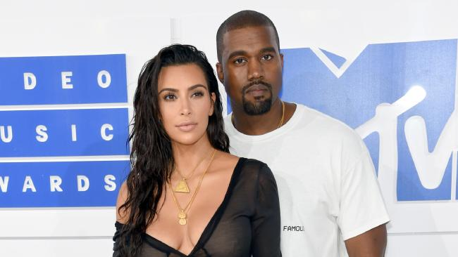 Kanye West has lashed out at some famous faces over their treatment of his wife, Kim Kardashian. Picture: Getty Images