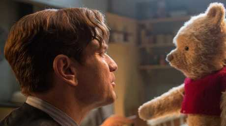 Ewan McGregor as Christopher Robin, with his longtime friend Winnie-the-Pooh.
