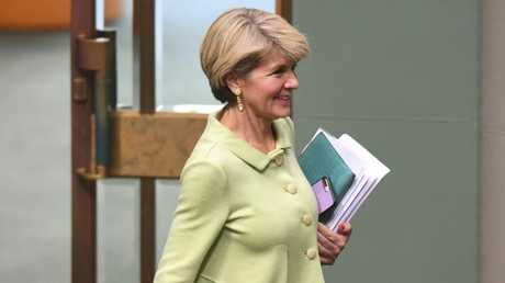 Julie Bishop has been highly critical of her party since the spill. Picture: AAP