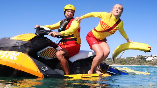 Max Pettigrove and Renee Gregory will ramp up patrols this summer between Sunshine Beach and Noosa. Pictures: Lachie Millard