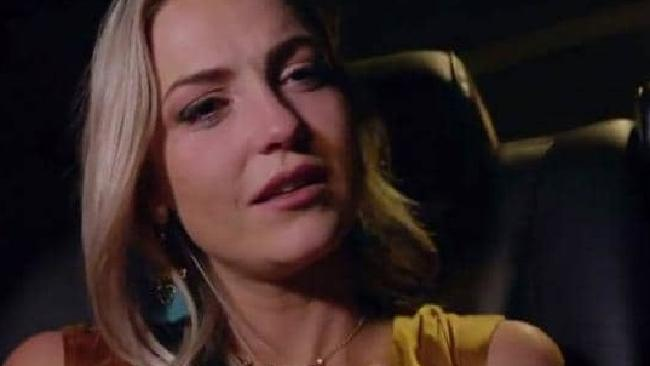 A devastated Shannon cries as she's driven away from the Bachie mansion.
