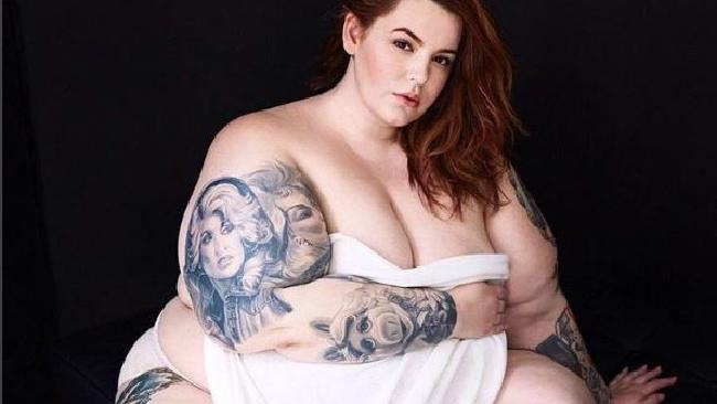 Tess Holliday is a plus-size American model. Picture: Instagram/tessholliday