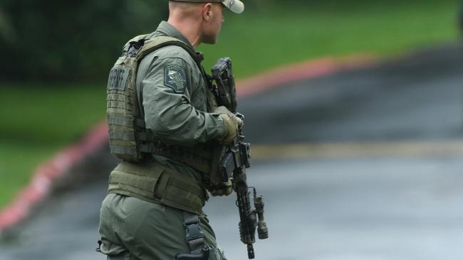 Authorities say multiple people have been shot in northeast Maryland in what the FBI is describing as an 'active shooter situation'. Picture: Jerry Jackson /The Baltimore Sun via AP