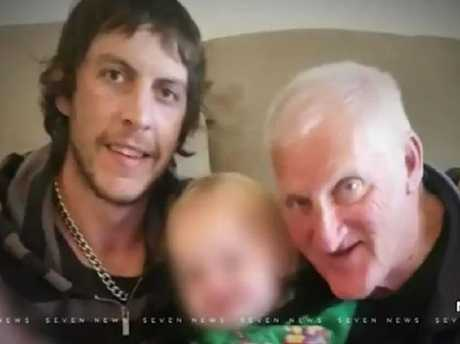Andrew Smith was 30, a father of two little boys and several weeks into his latest attempt at getting off drugs when he was shot and killed by his father Peter John Smith. Picture: Channel 7