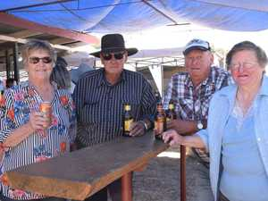 Desley, Arnold, Des, and Rhonda Hess at the Brigalow