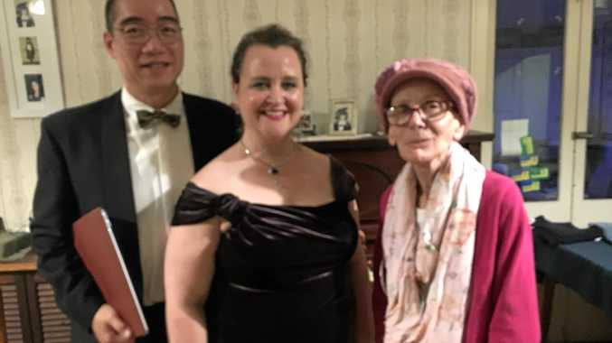 INTIMATE CONCERT: My special auntie, Kaye Hart celebrated her 70th birthday in style - fit with an intimate concert in her living room performed by D'Arne Sleeman and Mark Leung from the Queensland Conservatorium.