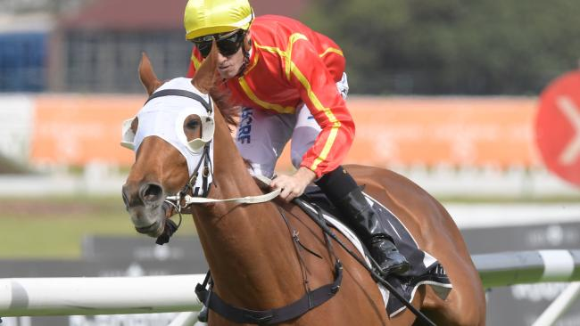 Jockey Jay Ford rides Miss Admiration to victory in the JRA Trophy at Rosehill on Saturday. Picture: Simon Bullard/AAP