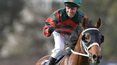 Kerrin McEvoy was all smiles after The Autumn Sun's super win. Picture: AAP