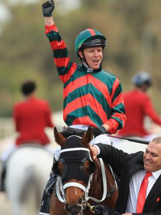 Kerrin McEvoy was in awe of The Autumn Sun's finishing burst. Picture: Getty Images