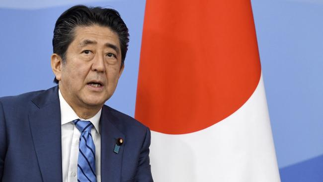 Japanese Prime Minister Shinzo Abe. Picture: AFP