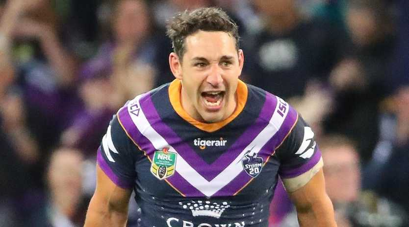 Billy Slater was going to play his last game in the grand final but could miss it through suspension. Picture: Scott Barbour/Getty
