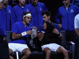 Federer and Djokovic beaten in doubles