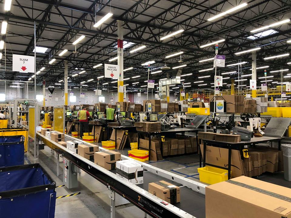 Amazon BFI4 Fulfillment Centre in Kent.