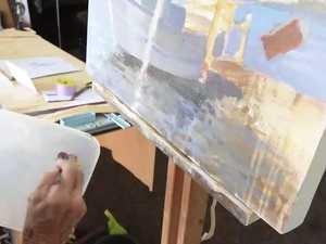 Pat Jenkins in her studio