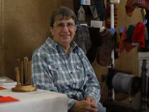 Julie Kilpatrick from Kyogle Spinners and Weavers