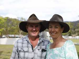 Todd and Kim Anderson at the Nimbin Show on Saturday.