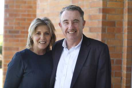 Page MP Kevin Hogan with his wife, Karen.
