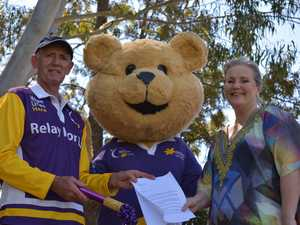 Richmond Valley mayor Robert Mustow walked with Relay