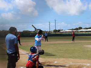 Mackay Softball team playing in the Under 17's state
