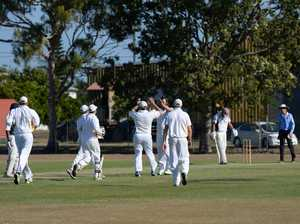 Magpies First grade cricket side celebrate after a