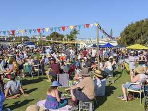 The crowd at the Yamba Gourmet Street Food Truck