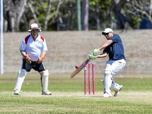 Cricket action of the 10th Industries 20-20 Cricket Challenge