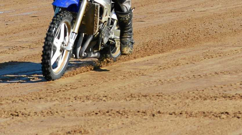 Dirtbike rider. Photo Lee Constable / Daily Mercury