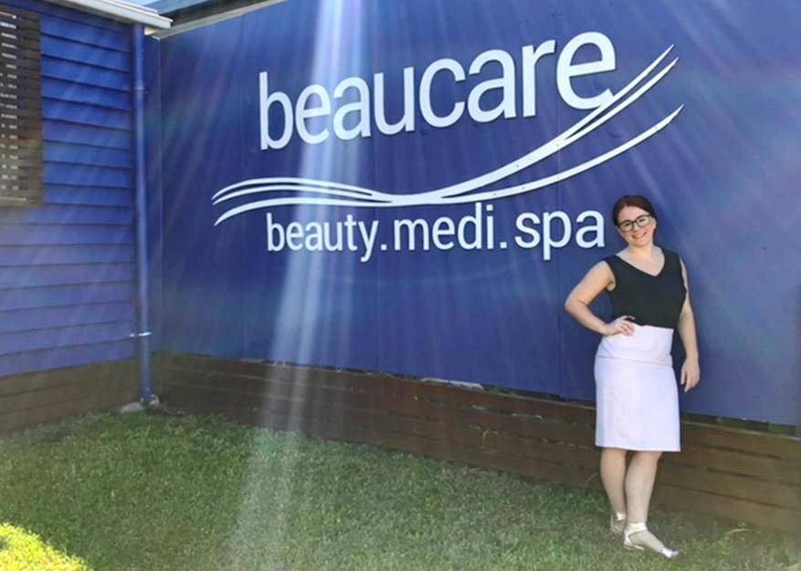 FUNDRAISING: Angela Walters of Beaucare Rockhampton.