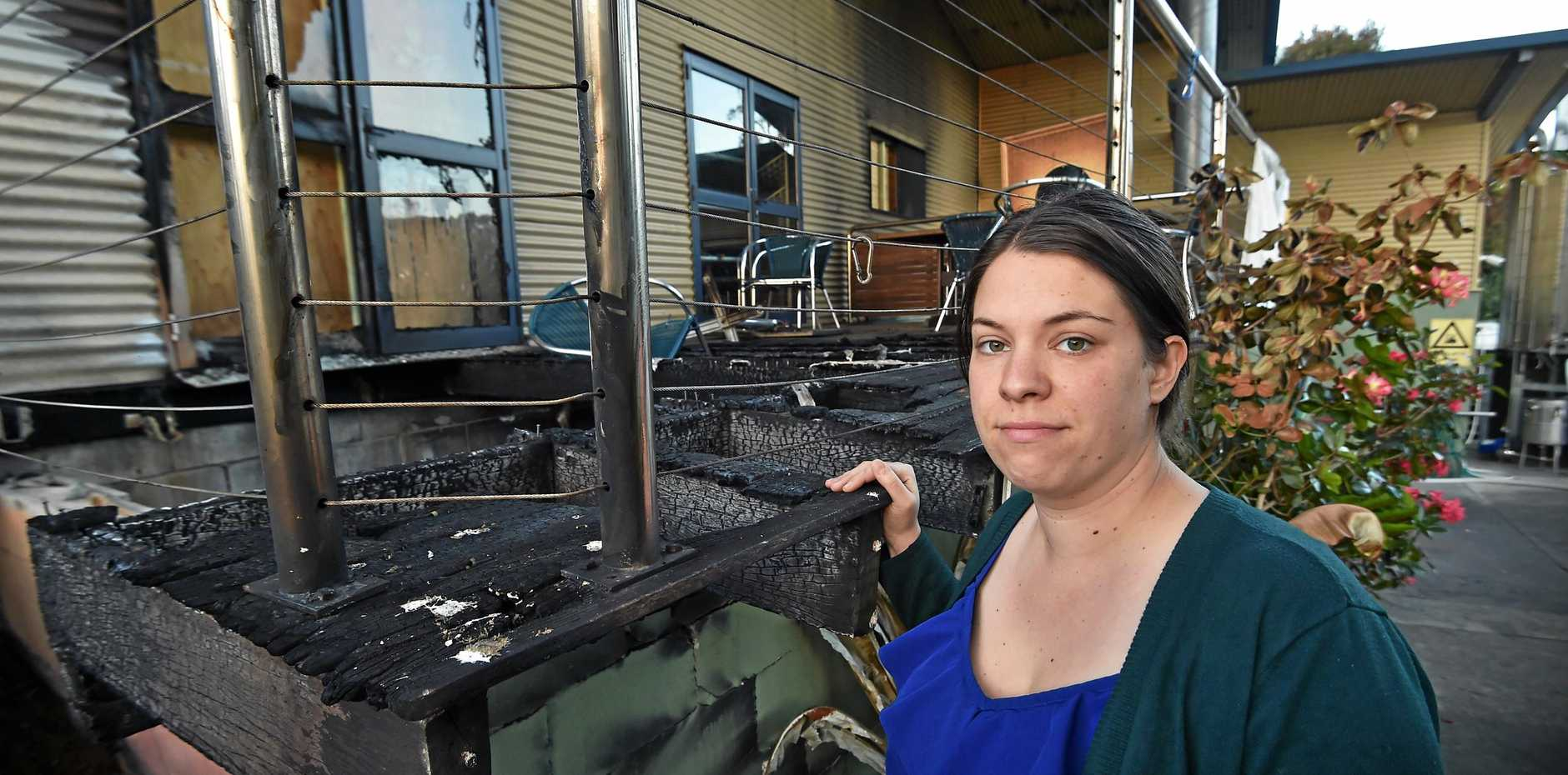 Manager Jennepher Bucher was devastated after the arson attack on the Maleny Cheese factory last Monday morning.