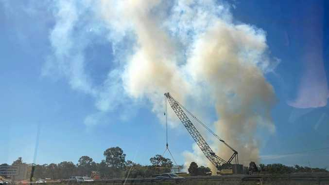 Massive smoke plume causes Bruce Highway delays