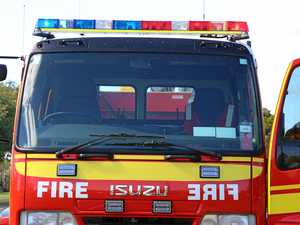 Fire burns near Ripley homes