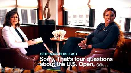 Serena's publicist steps in mid-interview.