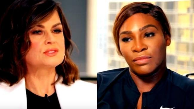 Lisa Wilkinson and Serena Williams.