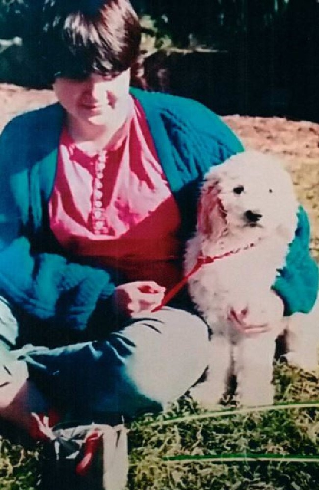 Despicable abuser Aitchison played a chilling card, the death of Georgie's dog Lilly (above with her) about which she still feels guilty.