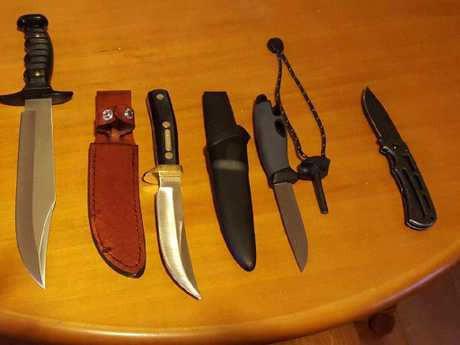 Left to Right: The Muela Outback, Schrade Old Timer, Mora Light My Fire blades. Picture: Facebook