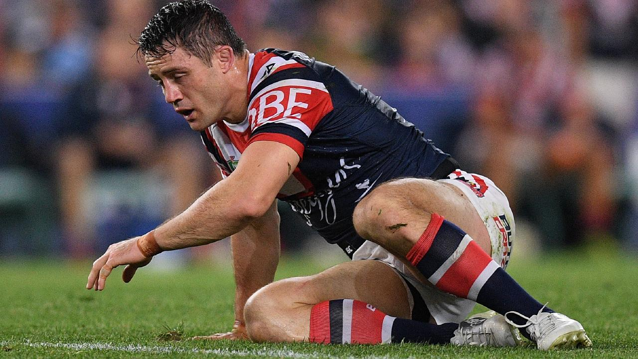 Sydney Roosters halfback Cooper Cronk suffered a shoulder injury against the Rabbitohs.