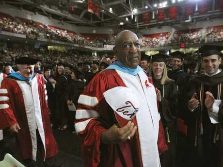 Bill Cosby appears at Temple University's commencement in Philadelphia. Picture: Matt Rourke