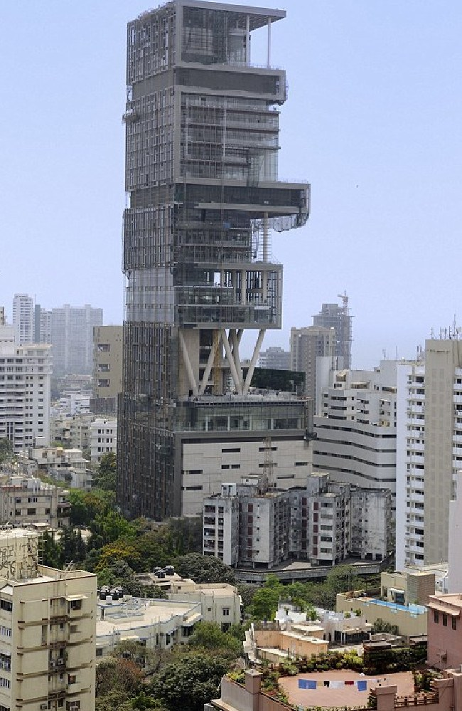 Antilia, while it was being built.