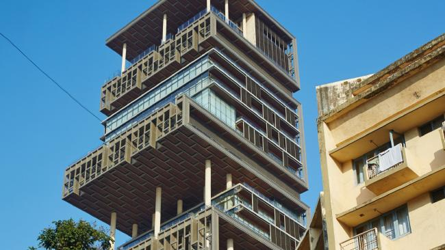 The Antilia home where the Ambanis live. Picture: Alamy