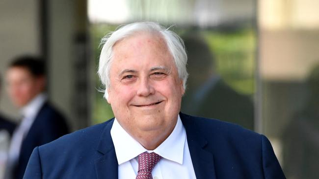 Clive Palmer leaves the Supreme Court in Brisbane earlier this month. Picture: AAP Image/Darren England